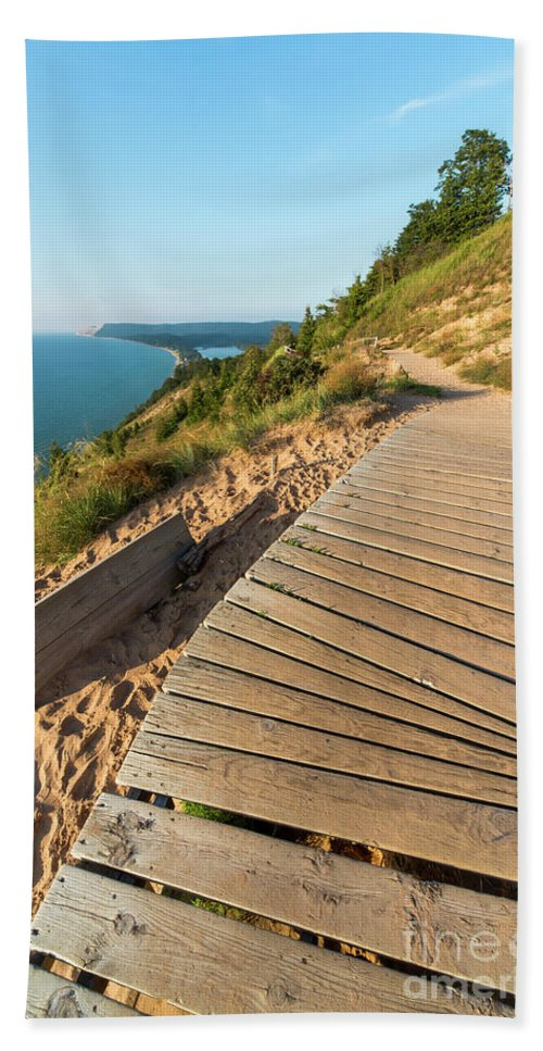 Empire Beach Towel featuring the photograph Atop Empire Bluff by Twenty Two North Photography