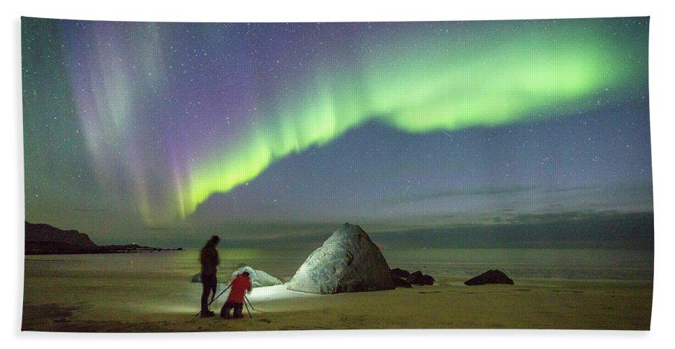 Aurora Beach Towel featuring the photograph Aurora Photographers by Alex Conu