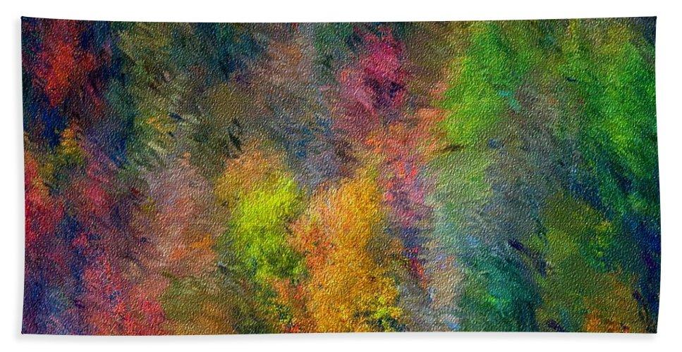 Landscape Beach Towel featuring the digital art Autum Hillside by David Lane