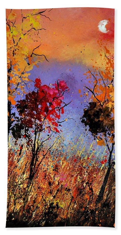 Landscape Beach Towel featuring the painting Autumn 451110 by Pol Ledent