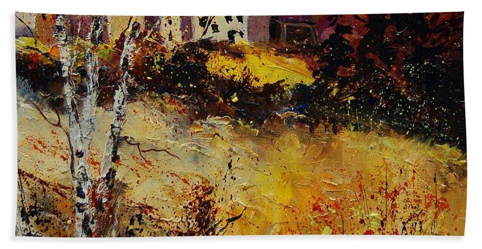 Landscape Beach Towel featuring the painting Autumn 569021 by Pol Ledent
