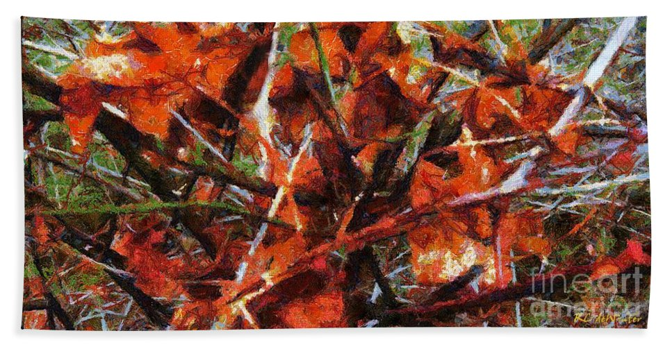 Autumn Beach Towel featuring the painting Autumn Allegretto by RC DeWinter