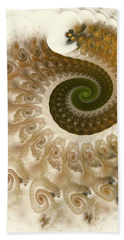 Fractal Beach Towel featuring the digital art Autumn Breeze by Amorina Ashton
