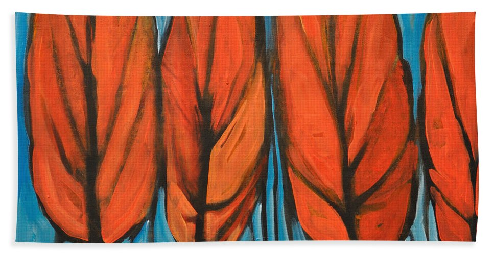 Fall Beach Towel featuring the painting Autumn Dance by Tim Nyberg