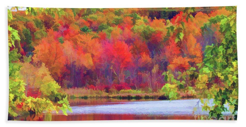 Seasons Beach Towel featuring the photograph Autumn East Coast I by Chuck Kuhn