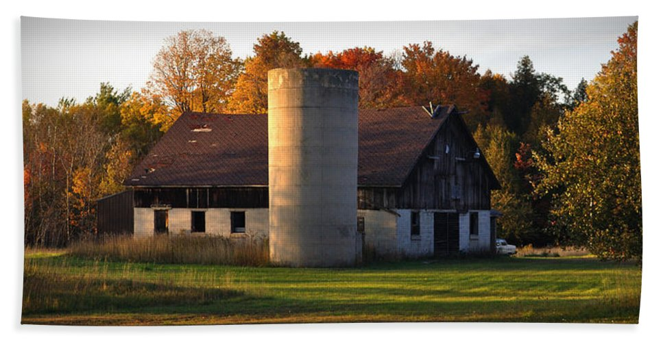 Fall Beach Towel featuring the photograph Autumn Evening by Tim Nyberg