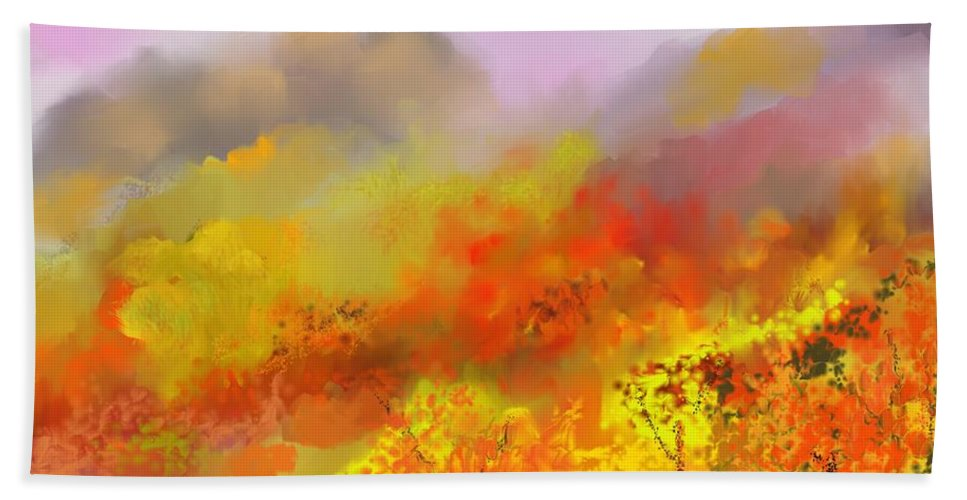 Autumn Beach Towel featuring the digital art Autumn Expression by David Lane