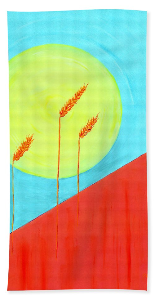 Impressionist Painting Beach Towel featuring the painting Autumn Harvest by J R Seymour
