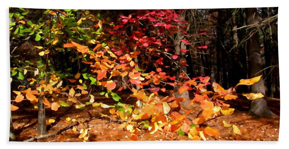 Autumn Beach Towel featuring the painting Autumn Hues by Paul Sachtleben