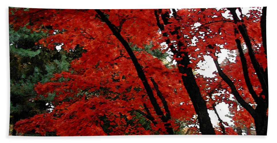Autumn Beach Sheet featuring the photograph Autumn In New England by Melissa A Benson