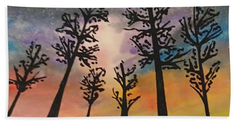 Trees Beach Towel featuring the painting Autumn by Liz Ardans