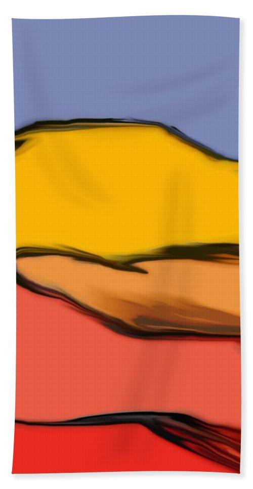 Digital Art Beach Towel featuring the digital art Autumn Mosaic by David Lane