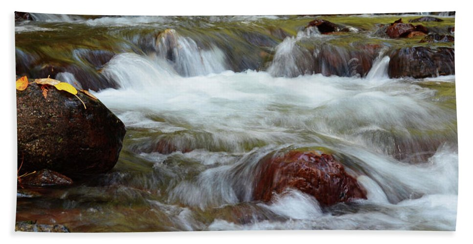 Autumn Beach Towel featuring the photograph Autumn On Jackson Creek by Whispering Peaks Photography