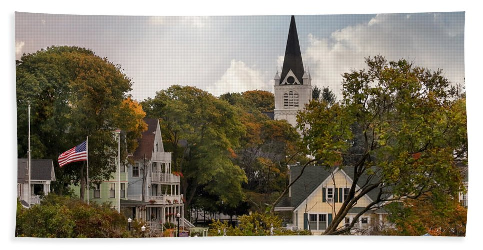 Mackinac Island Beach Sheet featuring the photograph Autumn On Mackinac Island by Jackson Pearson