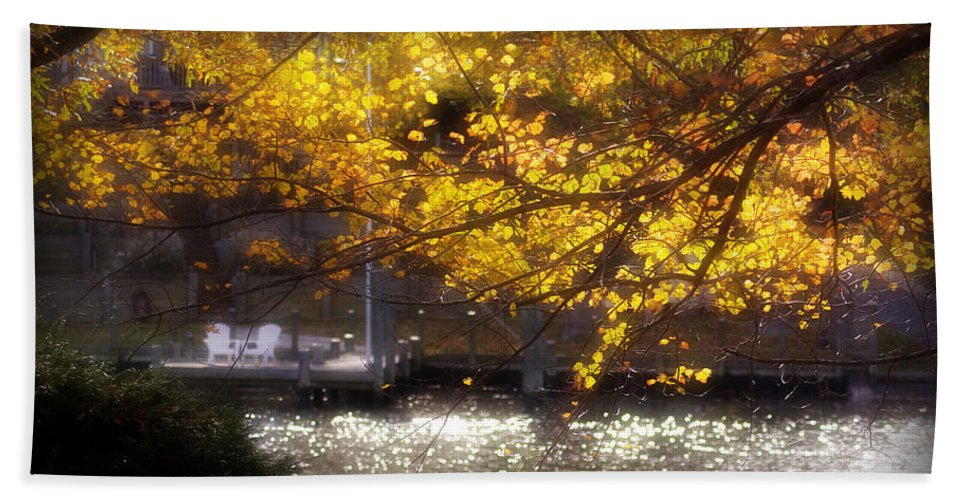 2d Beach Towel featuring the photograph Autumn On The Cove by Brian Wallace