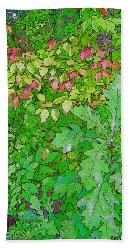 Leaves Beach Sheet featuring the photograph Autumn Splender by Joanne Smoley