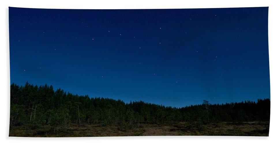 Lehtokukka Beach Towel featuring the photograph Autumn Stars by Jouko Lehto
