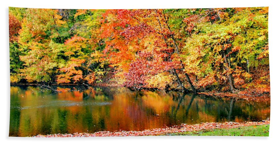 Autumn Beach Towel featuring the photograph Autumn Warmth by Kristin Elmquist