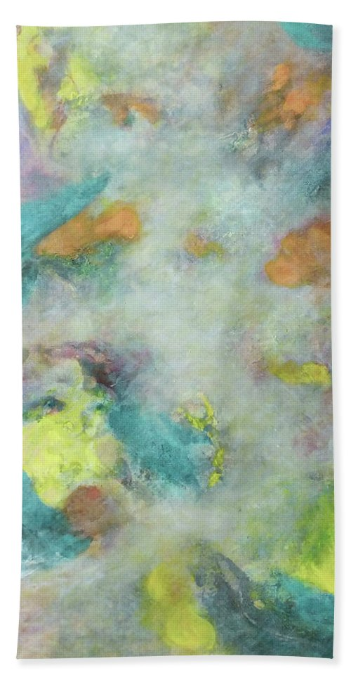 Fall Scene Beach Towel featuring the painting Autumn Wind by Marc Dmytryshyn