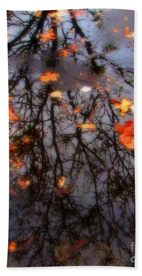 Tree Beach Towel featuring the photograph Autumns Looking Glass 3 by September Stone