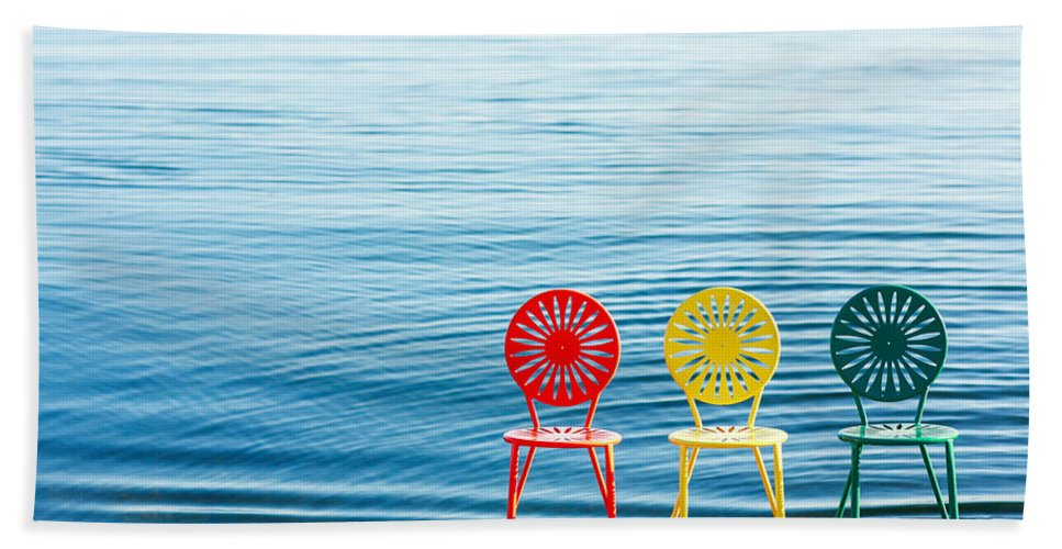 Chairs Beach Towel featuring the photograph Available Seats by Todd Klassy