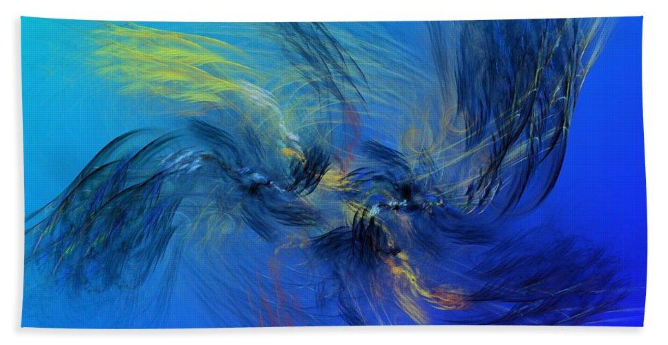 Fine Art Beach Towel featuring the digital art Avian Dreams 4 - Mating Rituals by David Lane
