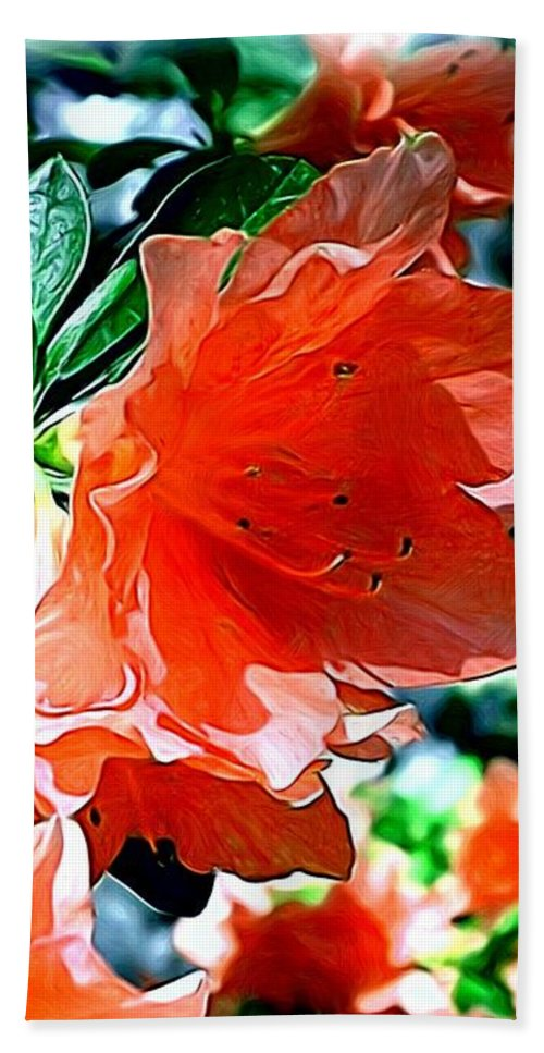 Fine Art Beach Towel featuring the painting Azaleas in the Spring by Patricia Griffin Brett