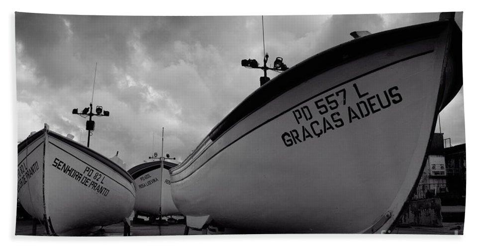 Azoren Beach Towel featuring the photograph Azorean Fishing Boats by Gaspar Avila