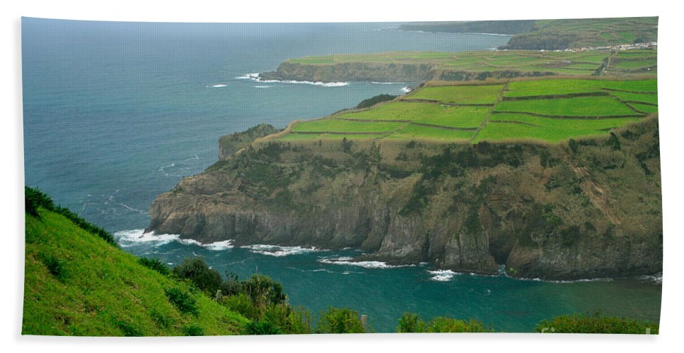 Azores Beach Towel featuring the photograph Azores Coastal Landscape by Gaspar Avila