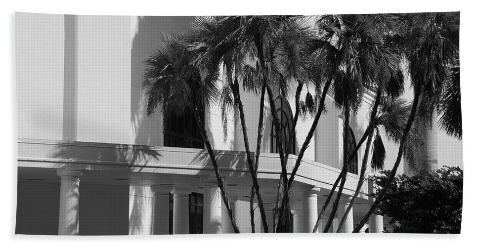 Black And White Beach Towel featuring the photograph B S Post Modern..... by Rob Hans