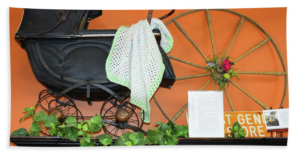 Beach Towel featuring the photograph Baby Buggy by Tony Culpepper
