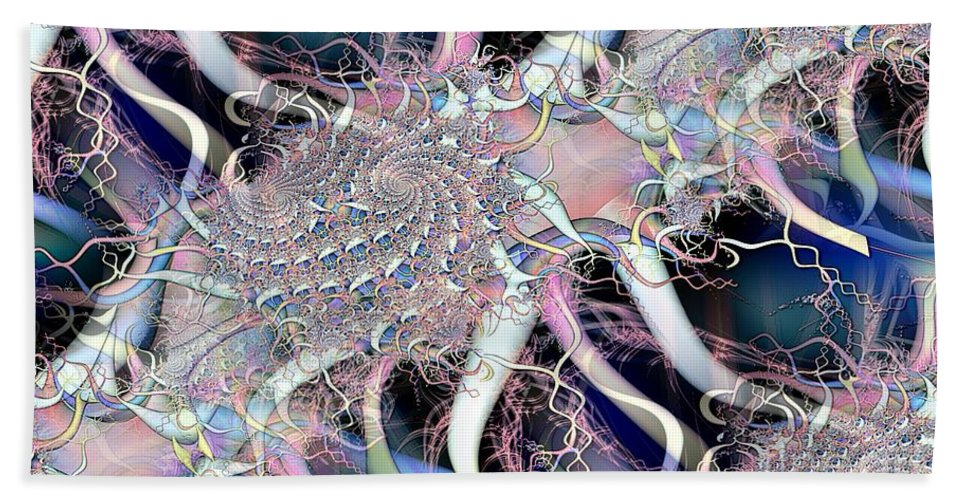 Baby Colors Beach Towel featuring the digital art Baby Fractal 2 by Ron Bissett