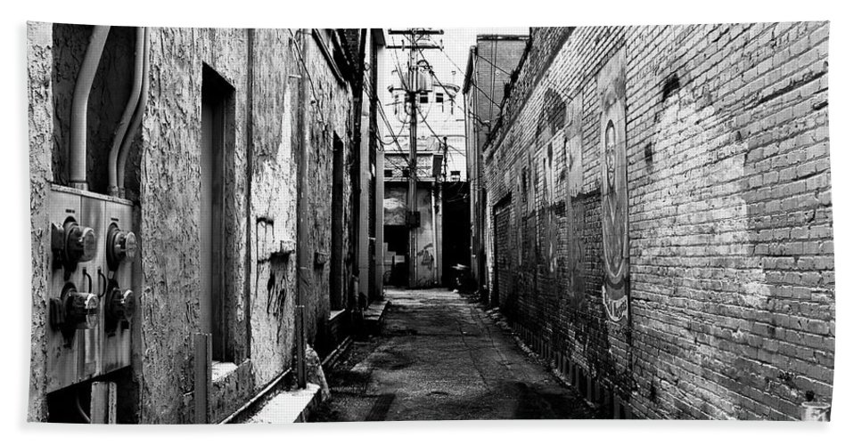 Fine Art Photography Beach Towel featuring the photograph Back Alley by David Lee Thompson