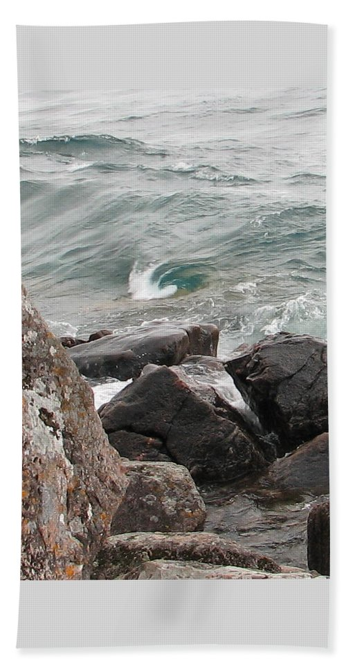 Wave Beach Towel featuring the photograph Back Swirl by Kelly Mezzapelle