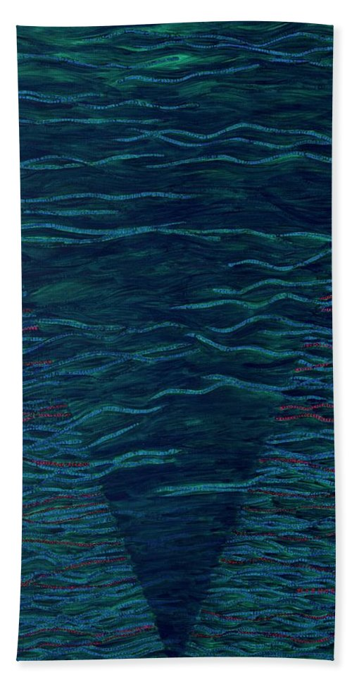 Spiritual Beach Towel featuring the painting Back To Heaven 2 by Kyung Hee Hogg