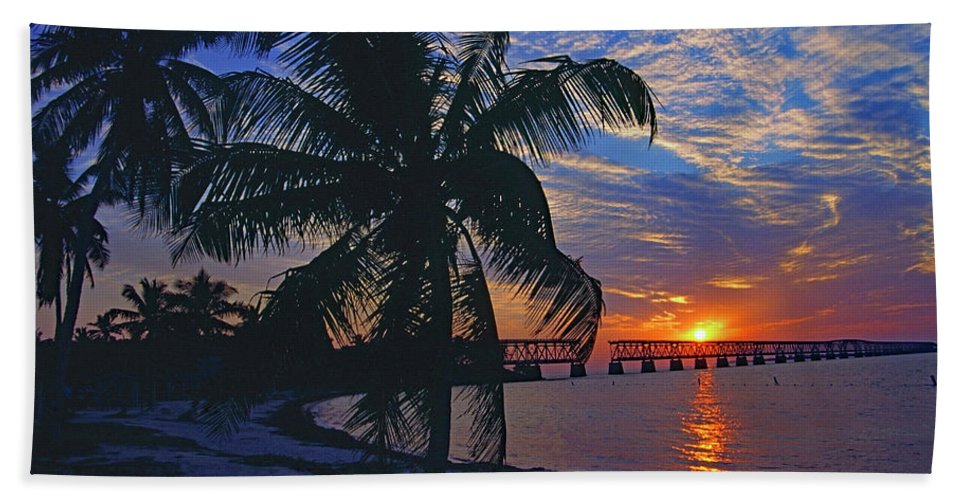 Usa Beach Towel featuring the photograph Bahia Honda State Park, Florida Keys by Gary Corbett