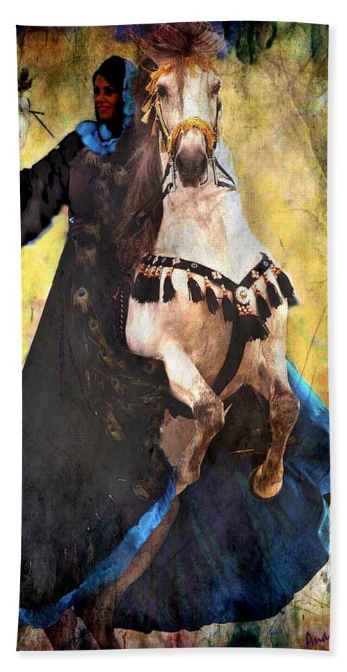 Rearing Horse Beach Towel featuring the photograph Bakhtiari Falconess by Anastasia Savage Ealy