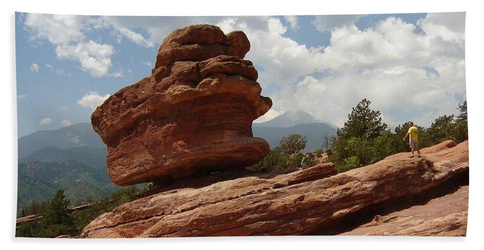 Colorado Beach Sheet featuring the photograph Balance Rock by Anita Burgermeister