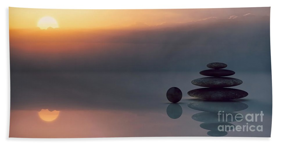 Beach Beach Towel featuring the photograph Balanced Peace by Sebastien Coell