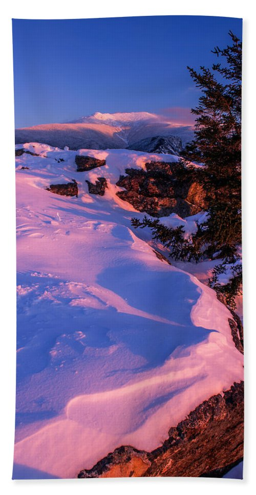 Bald Mountain Beach Towel featuring the photograph Bald Mountain Winter Sunset by Chris Whiton