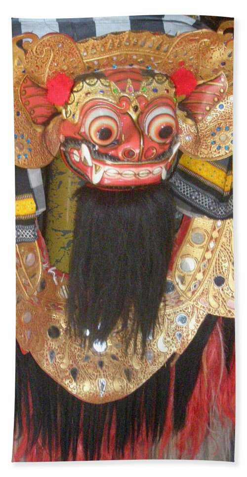 Bali Beach Towel featuring the photograph Balinese Barong by Mark Sellers