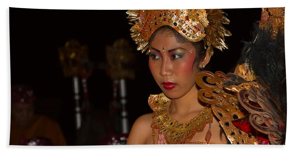 Dancer Beach Towel featuring the photograph Balinese Dancer by Louise Heusinkveld