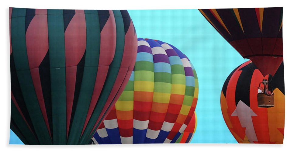 Balloon Beach Towel featuring the digital art Balloon Glow I by DigiArt Diaries by Vicky B Fuller