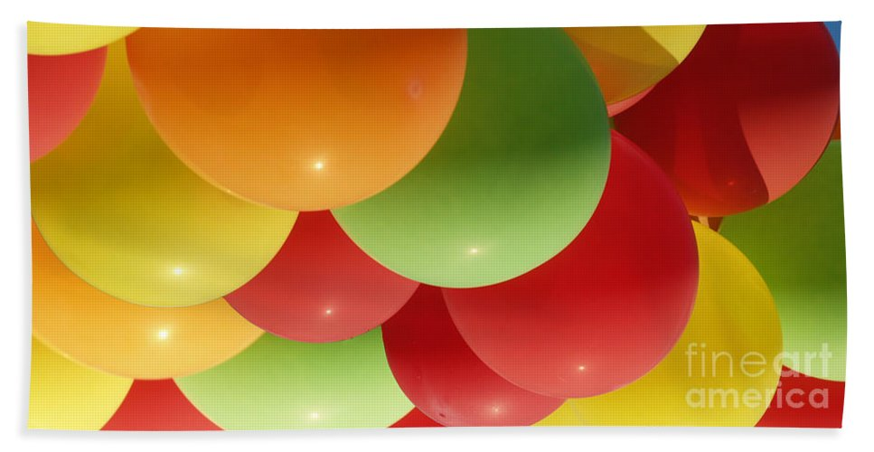 Colorful Beach Towel featuring the photograph Balloons Up by JS Stewart