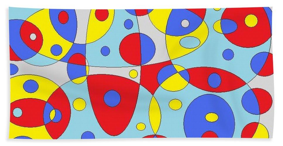 Beach Towel featuring the digital art Baloony by Jordana Sands