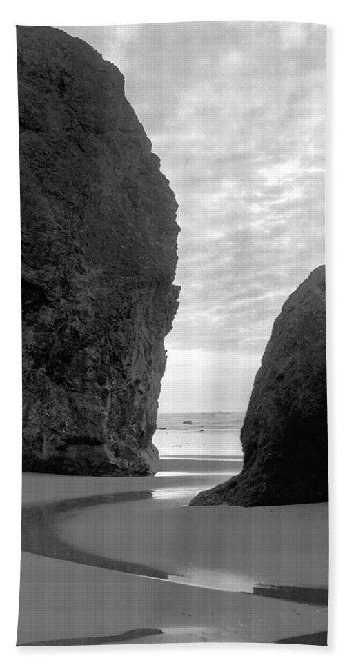 Bandon Beach Towel featuring the photograph Bandon by Trish Hale