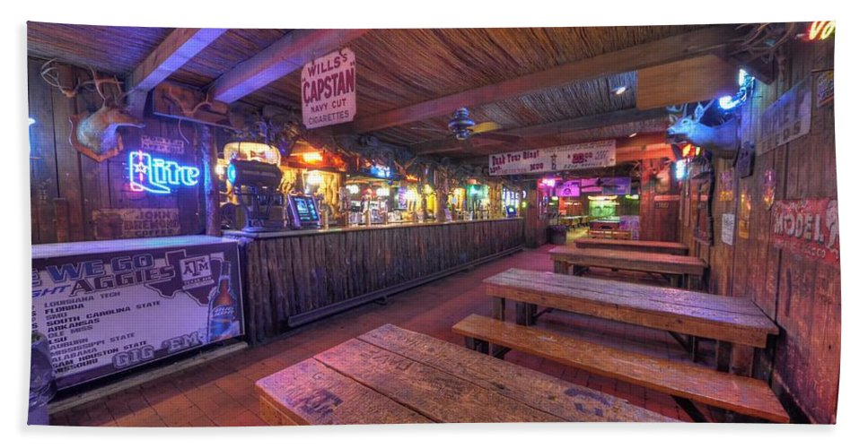 Beer Beach Towel featuring the photograph Bar At The Dixie Chicken by David Morefield