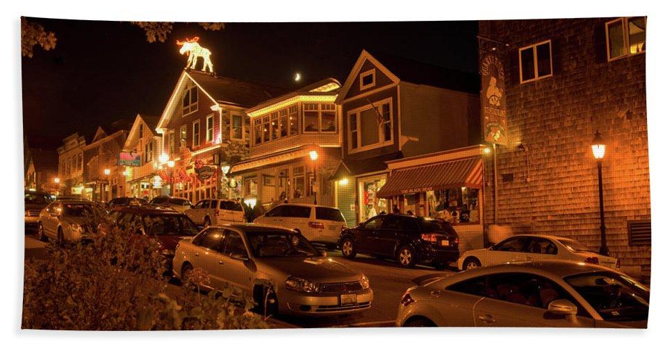 bar Harbor Beach Towel featuring the photograph Bar Harbor Nights by Paul Mangold