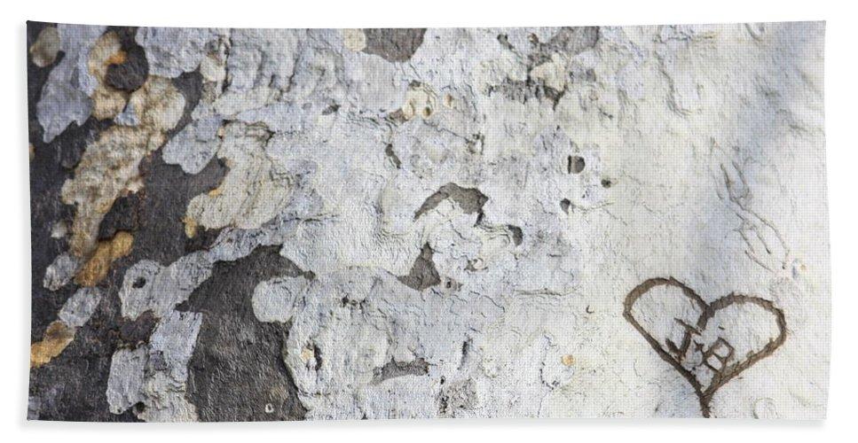 Bark Beach Towel featuring the photograph Bark With Heart by Carol Groenen