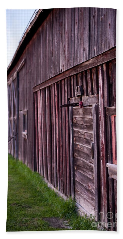Rustic Beach Towel featuring the photograph Barn Door Small by Steven Dunn